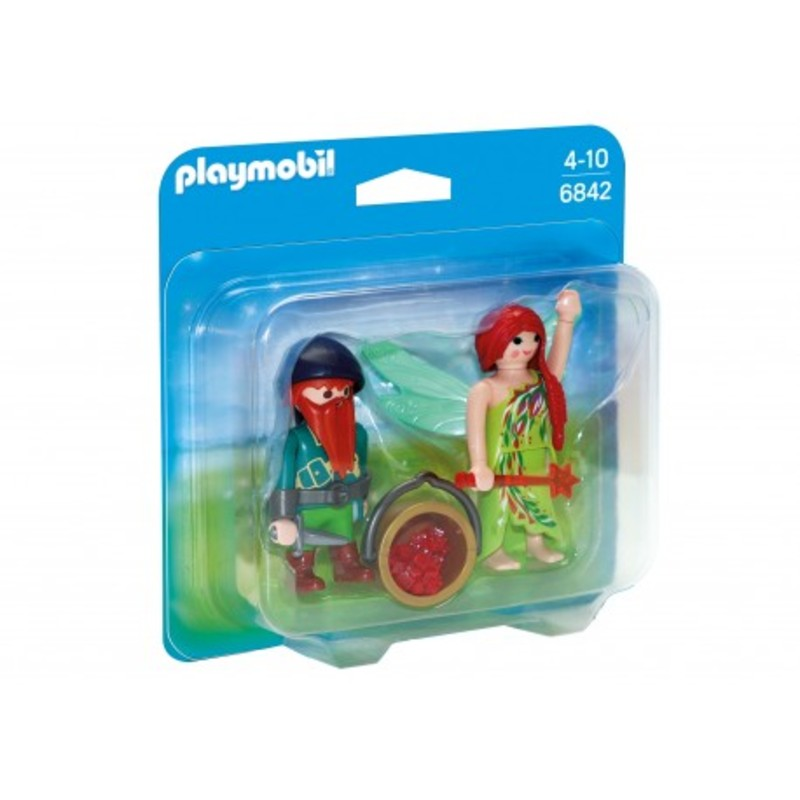 Playmobil - Duo Pack Elf i krasnal 6842 - 21,00 PLN