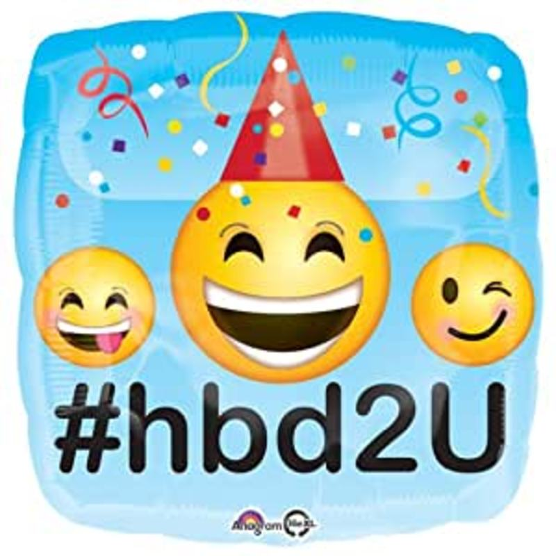 Emoticons Happy Birthday 45cm cena z napelnieniem - 16,99 PLN