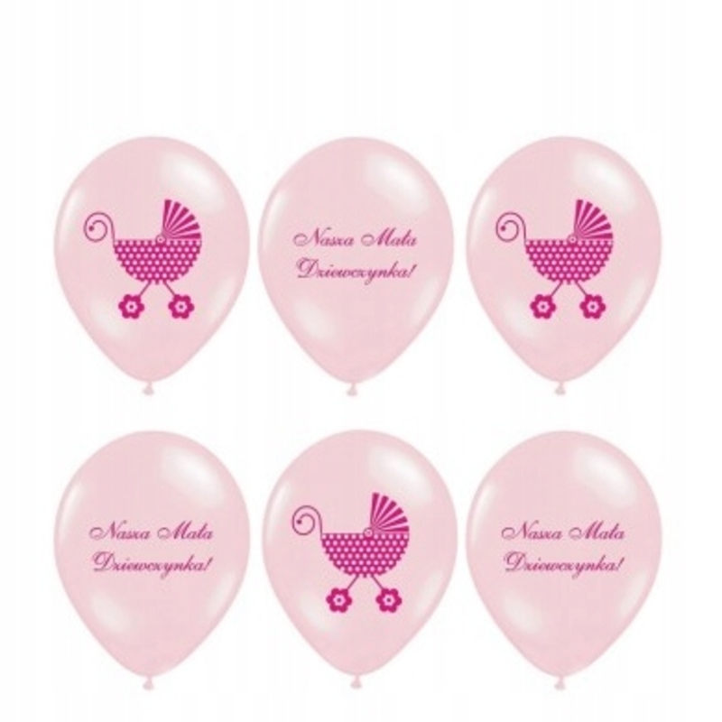 Balony na baby shower boy,girl 30cm cena z napelnieniem - 4,50 PLN